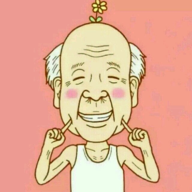 老头头像高清大�_头上有花动漫老头头像