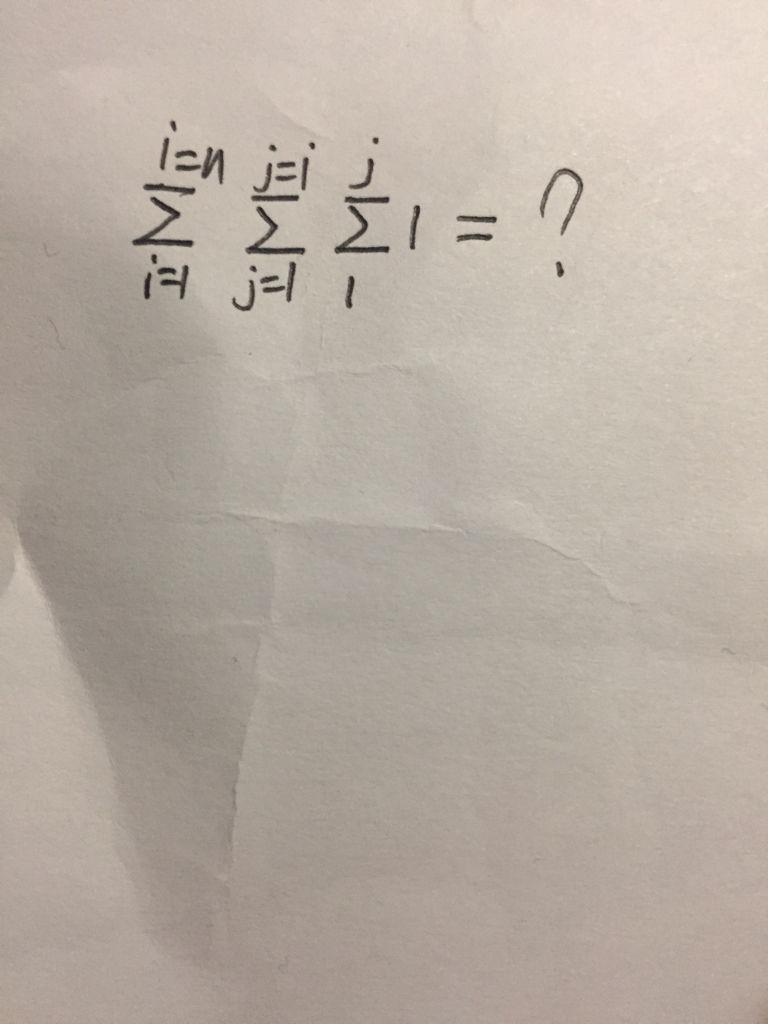 3个求和符号的运算题怎么做?