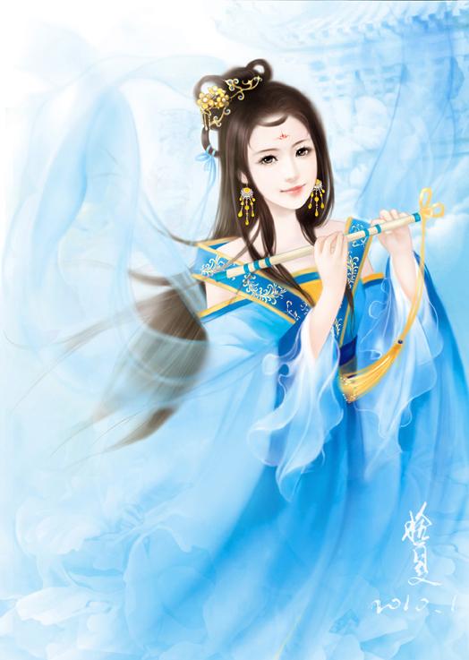 【求图】求蓝衣女子图_古风图片_动漫-百度贴吧