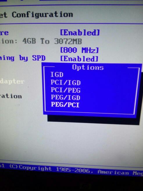 主板BIOS里initate graphic adapter 是显卡的选项吗里面有5个选