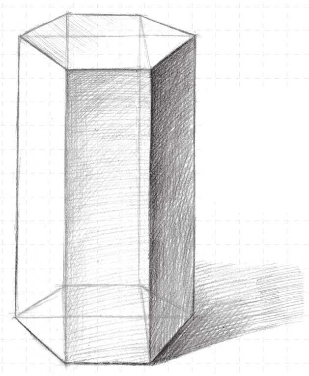 三棱柱素描图片_六棱柱透视素描怎么画_百度知道