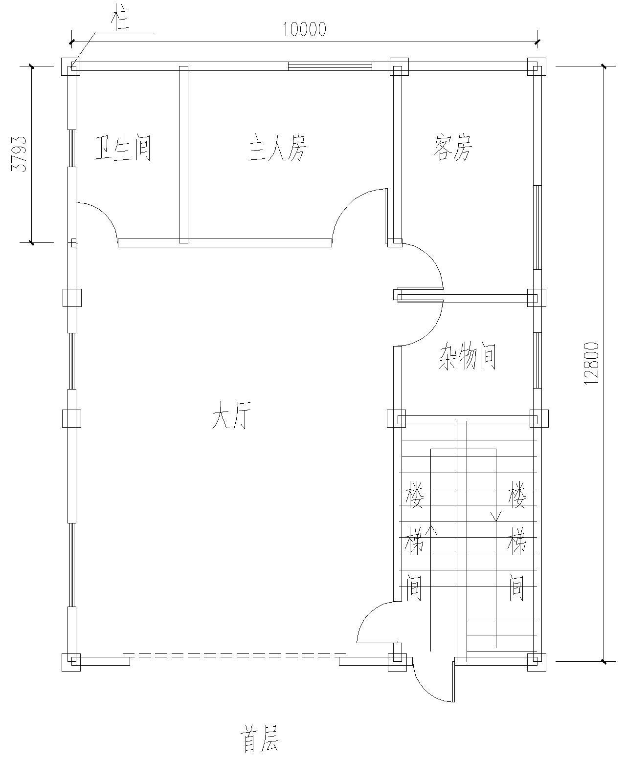 請求風水大師幫看下這房子設計圖的風水格局,屋向是坐北朝南的圖片