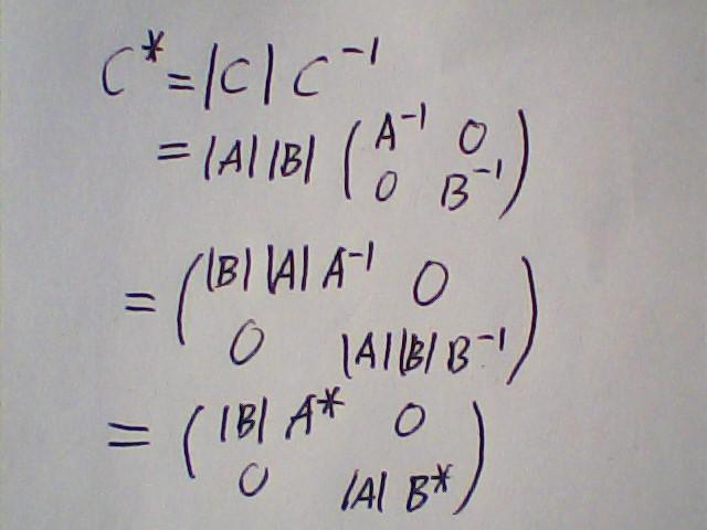 分块矩阵伴随公式
