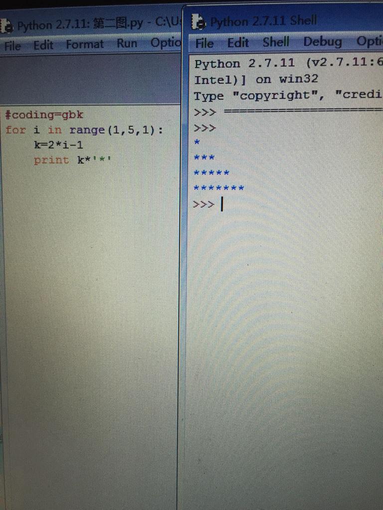 使用循环的嵌套结构编程输出以下图形 python使用循环的嵌套结构编程输出以下图形 python10
