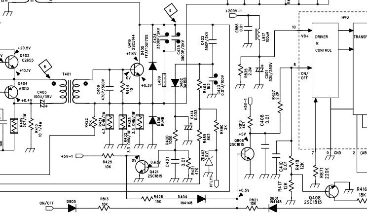 创维电视线路图_创维29T92HT 下阻逆管在图纸里标的符号是什么_百度知道