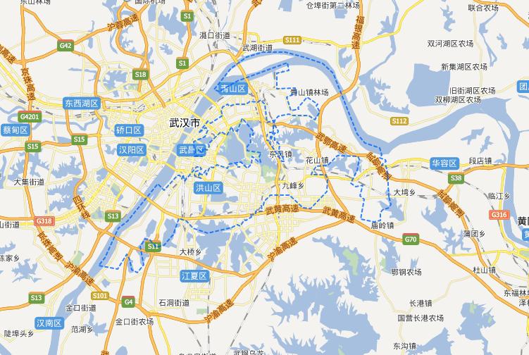 武汉市洪山区地图