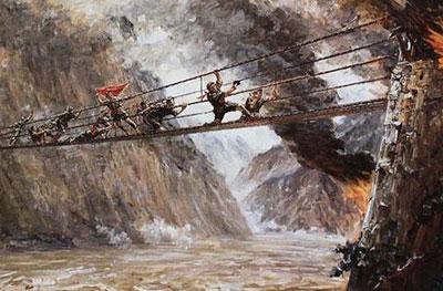 写一个描写泸定桥惊险的句子