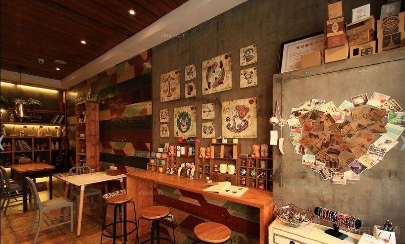 小型咖啡店的装修风格及效果图