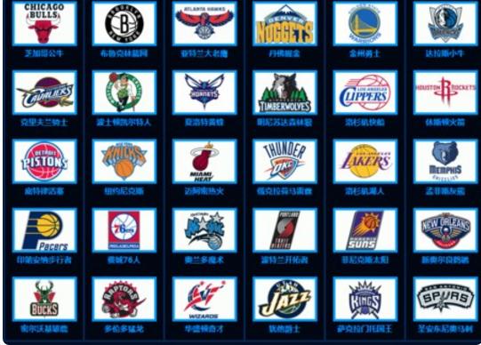 足球球队标志和名字_谁能把NBA所有球队标志和名称和地方给我_百度知道
