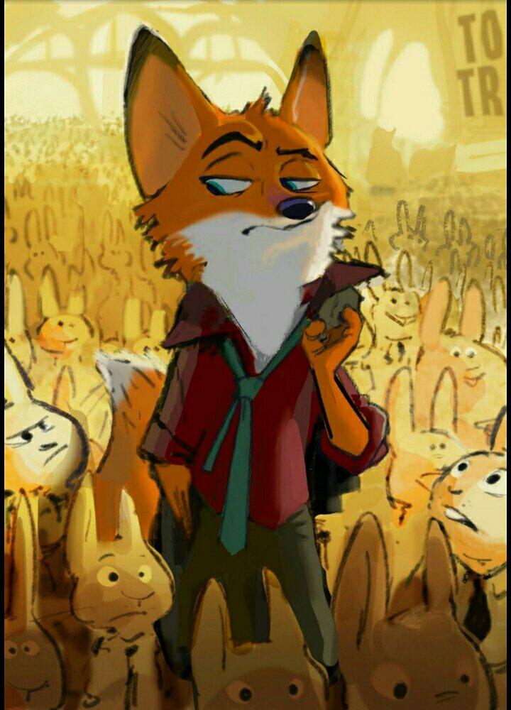 求疯狂动物城里狐狸的高清图片,和兔子在一起的也可以,越多越好,谢谢