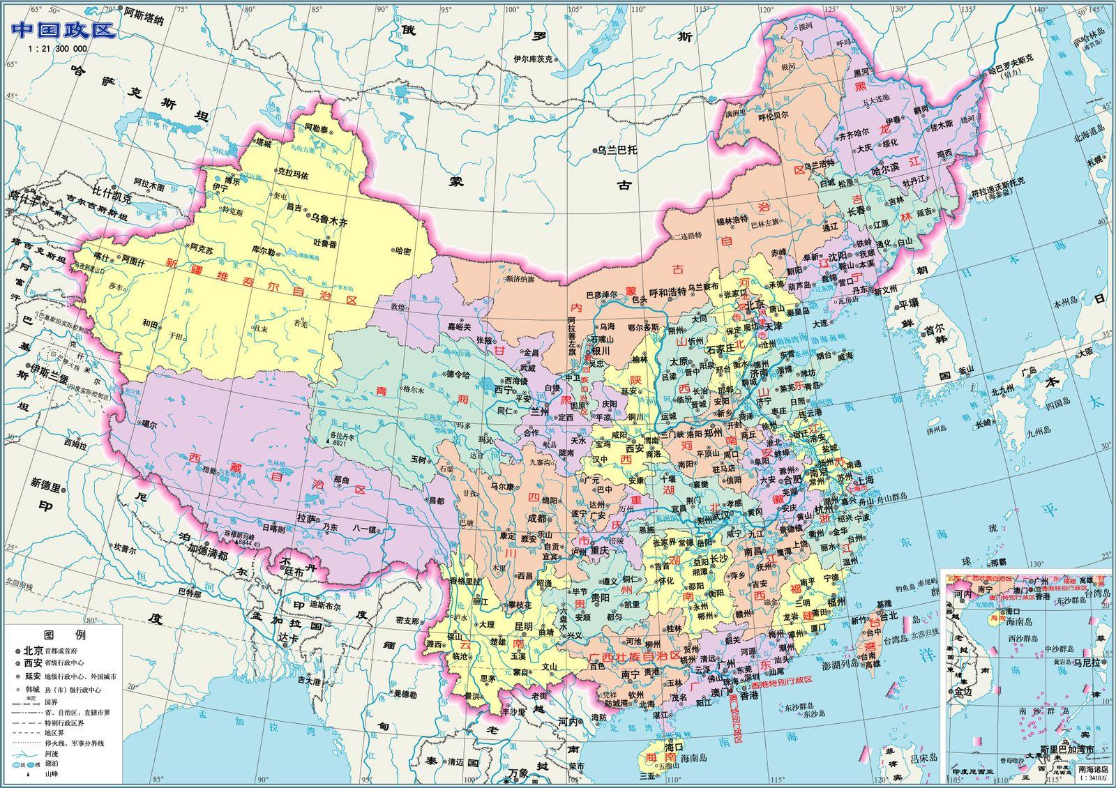 2015年超高清中国地图