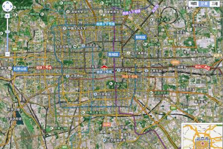 你可以用卫星地图