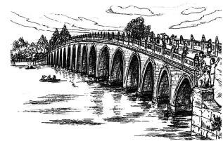 卢沟桥怎么简笔画才能最像它
