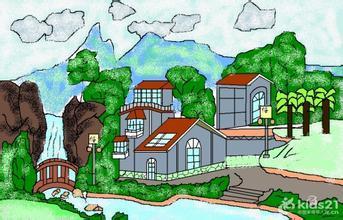 我爱家乡美_爱家乡、家乡美可以绘画、手工、剪贴等(4开纸)_百度知道