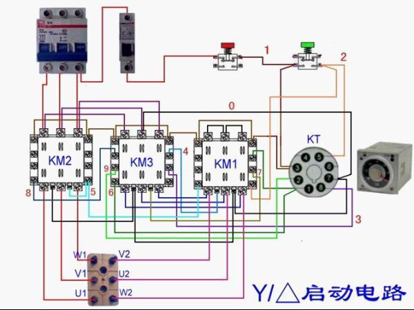 电动机y 起动 电动机星三角启动接线图 电动机星三角启动电路图 星三角降压启动原理图片