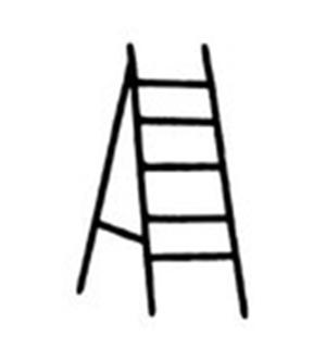 梯子简笔画