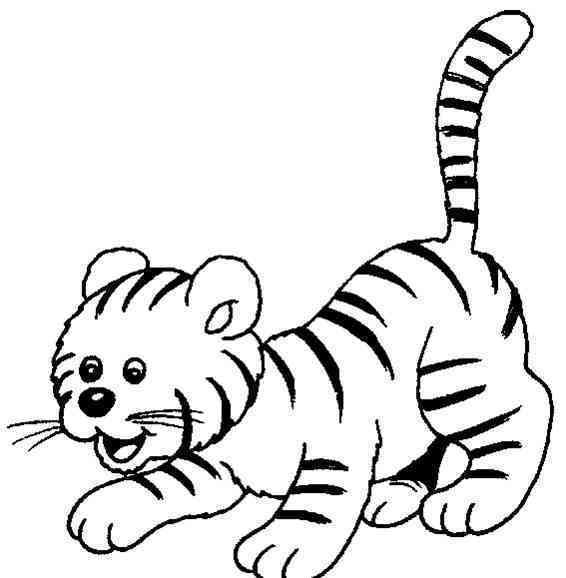简笔画小花猫和简笔画大老虎