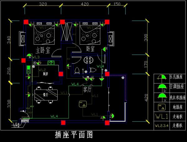 cad画电气图纸_CAD绘制建筑电路图中 如果遇到交叉要怎么绘制。绘制连接线时要 ...