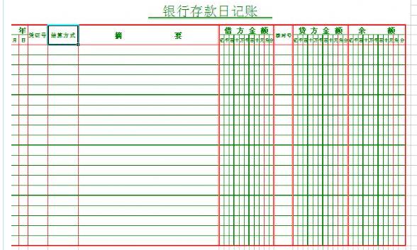 出纳新手,求日记账 银行日记账模版图片