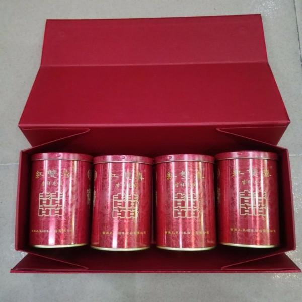 佛山顺德伦教哪里有卖红双喜吉祥龙凤罐装香烟图片