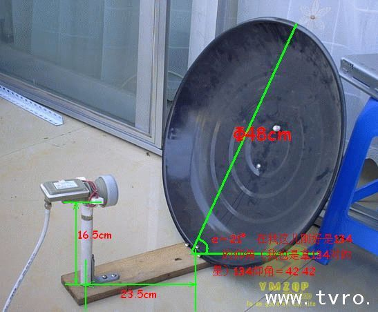 卫星锅高频头_自己制作卫星小锅收146的方法(现有11300高频头)_百度知道
