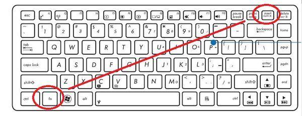 华硕笔记本为什么在输入字母时却变成了数字?