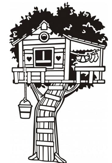 怎样做树屋简笔画图片