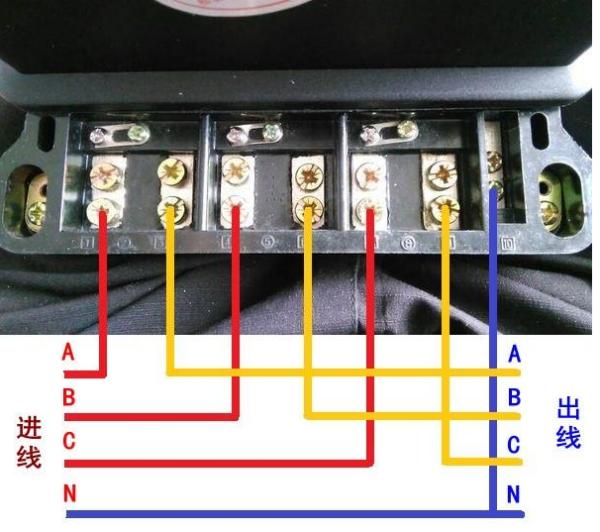 三相四线互感电表_三相四线电度表接线图怎么接 详细??_百度知道