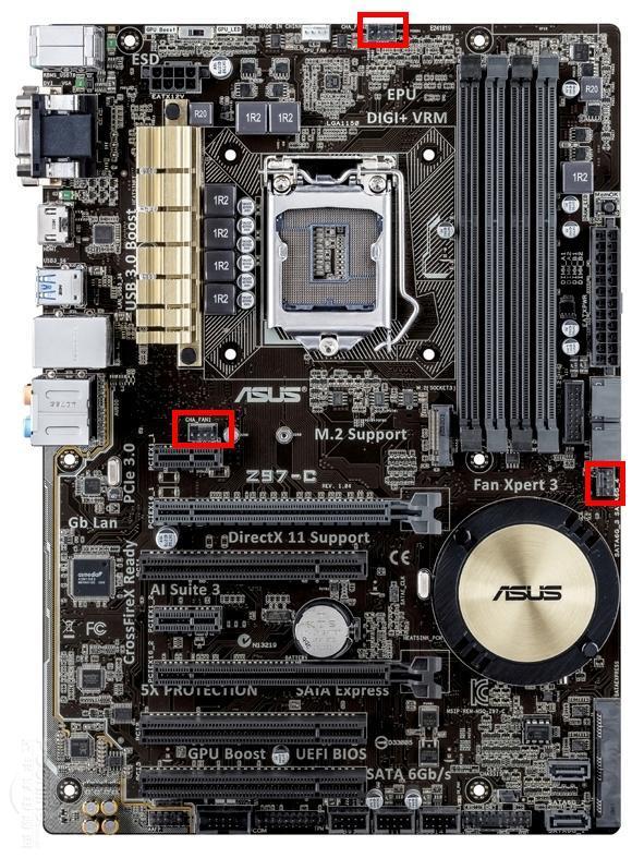 华硕z97接线_华硕Z97-C主板可以接几个pwm机箱风扇?_百度知道