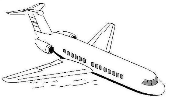 上飞机不是不是飞机简笔画