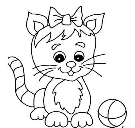 猫的简笔画大全:可爱动物简笔画猫图片(02)