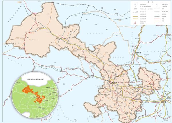 甘肃省地图高清版,甘肃省市县舆图是什么?