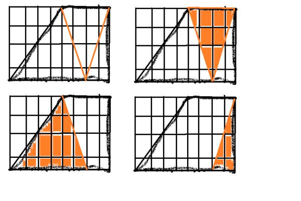 的梯形分成三个三角形,它们的面积分别为总面积的1 6,1 3,2 1