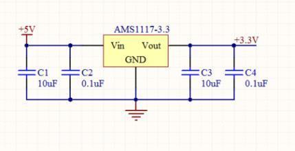 AMS1117-3.3的电路分析,求大神解答_百度知道