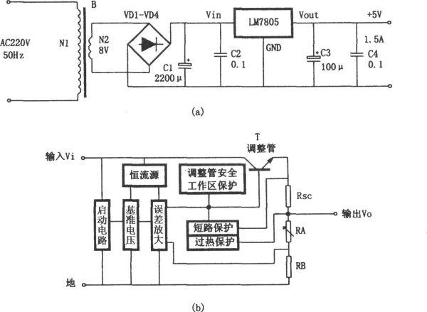 求将220交流电转换为5v直流电的电路图图片