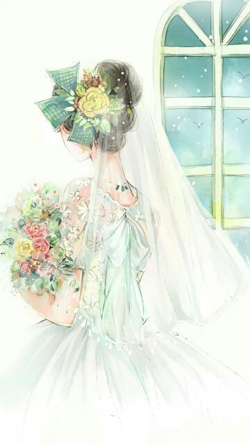 手机壁纸婚纱背影女生_婚纱手机壁纸背影仙气