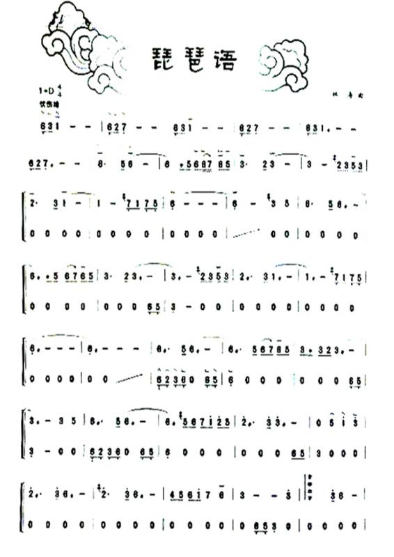 答案古筝曲谱_沧海一声笑古筝曲谱