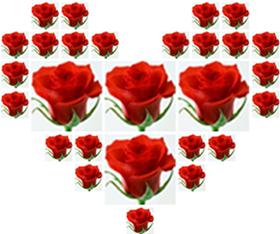 qq表情玫瑰心形_用QQ玫瑰花表情做出心形图案。在线等。_百度知道