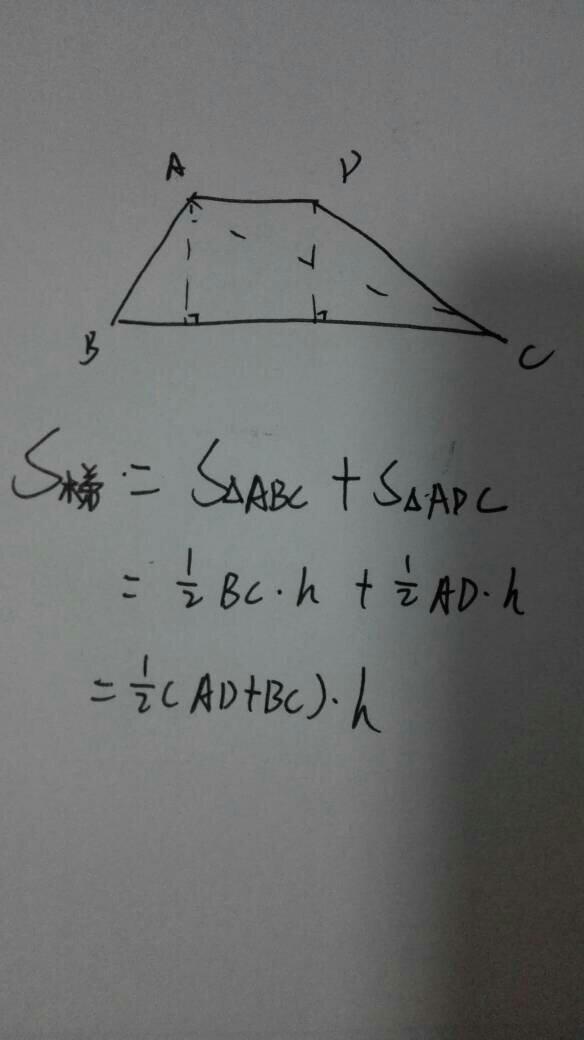 梯形的面积公式_任何梯形的面积公式都是上底加下底乘高除以二吗