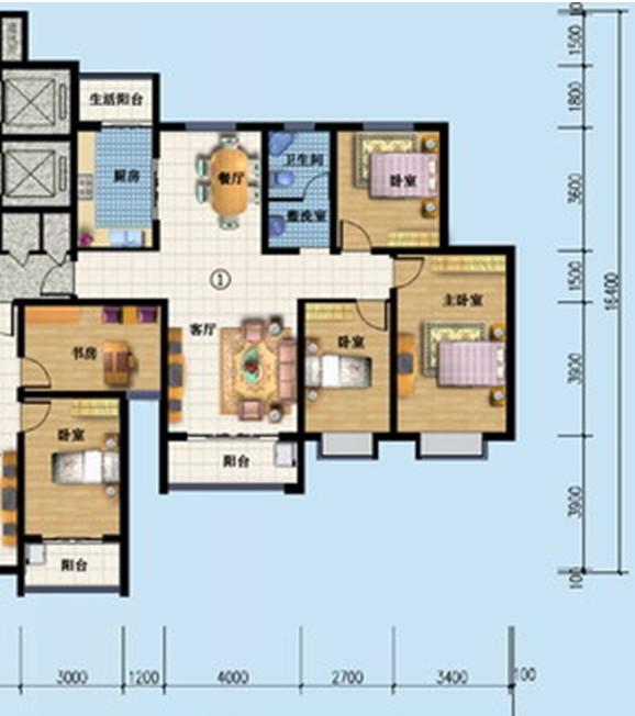 求室內設計裝修圖.房子120平方 預算在5萬左右