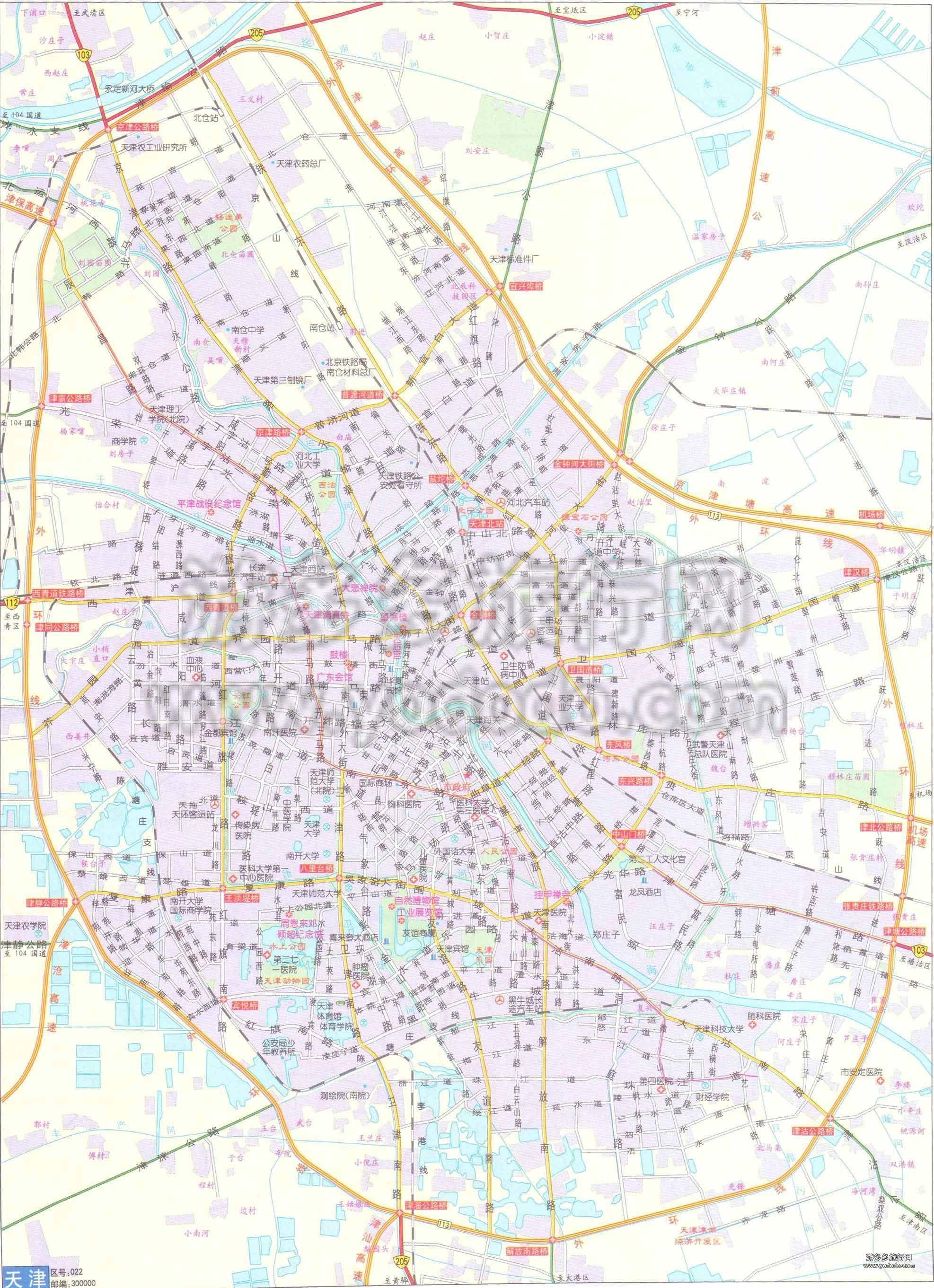 天津地图?