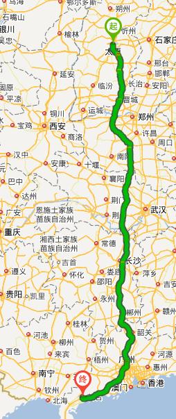 2公里,途徑:二廣高速公路,京港澳高速公路圖片