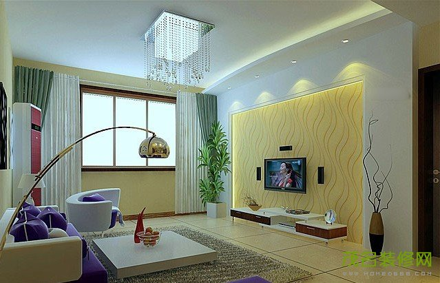 求简单家庭装修客厅 影视墙设计图