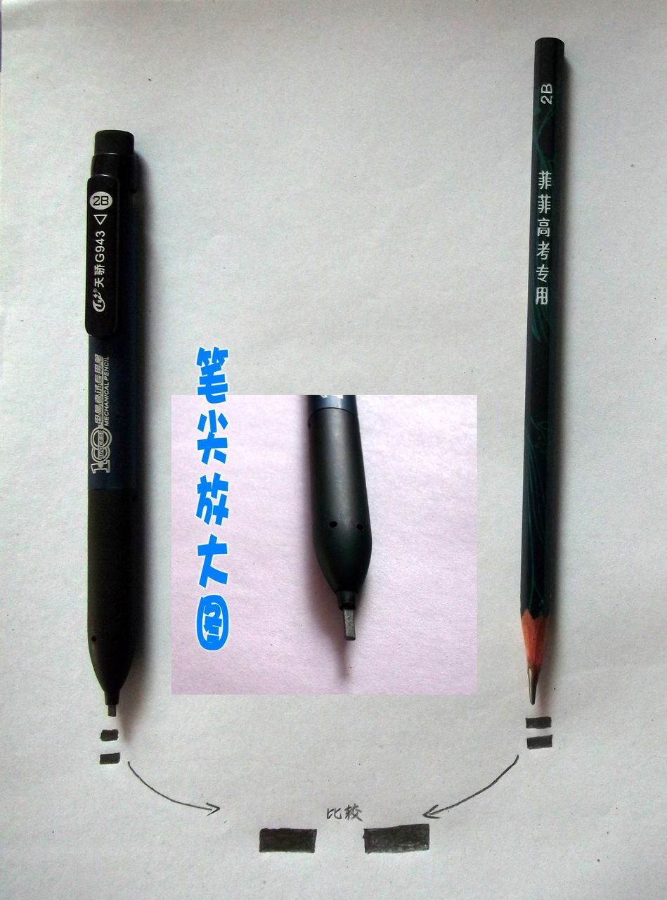 2b是铅笔_高考2B铅笔,用这种2B铅笔可以吗?_百度知道