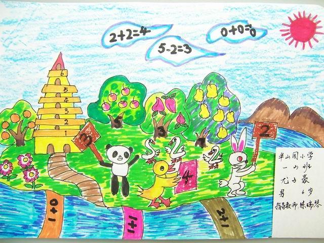 童数学想象画_想象画,通过数学想像,可以使对数学有初步感知能力的人(如小学儿童