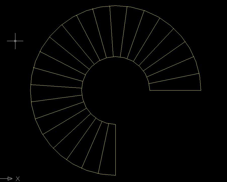 圆形浴缸立面cad_旋转楼梯的平面图和立面图怎么画?_百度知道