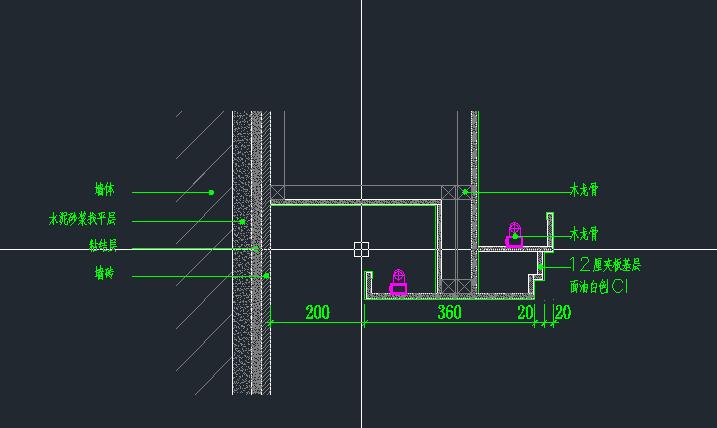 天花吊顶剖面_最近在学习CAD、立面图里面暗藏灯带一直有问题、想求天花结构 ...