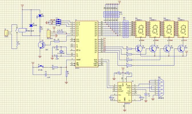 at89c51_51单片机、一个18b20测温,数码管显示的电路图_百度知道