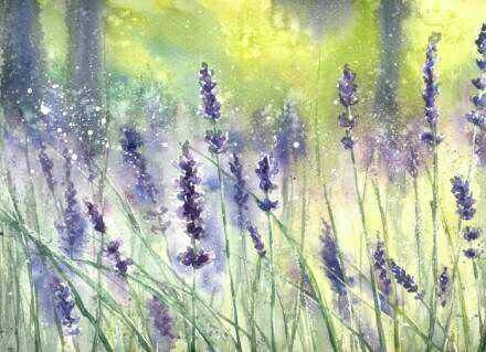 How To Paint Lavender In Acrylic