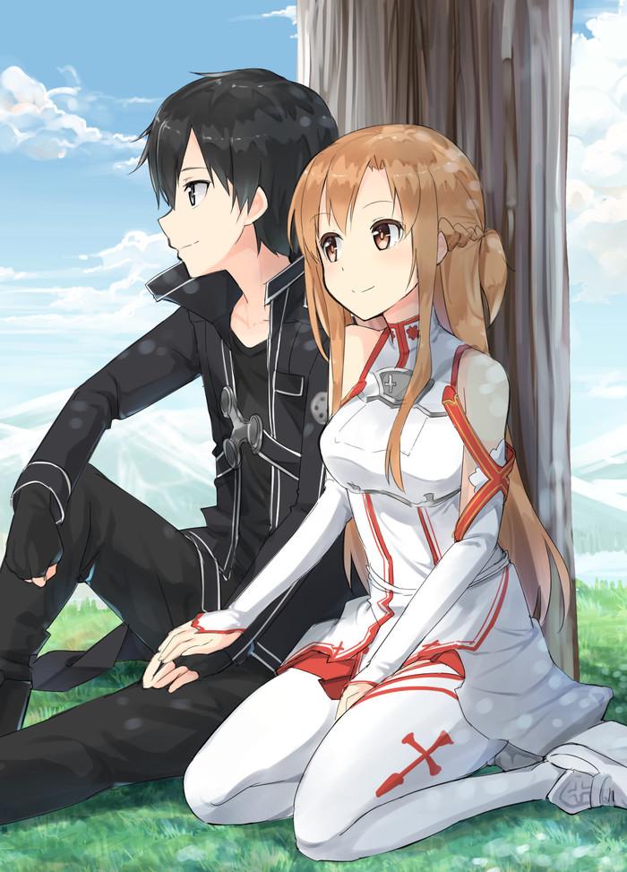 亚丝娜纯爱本_求刀剑神域第二季桐人和亚丝娜在公园里照的那张照片~如果有 ...